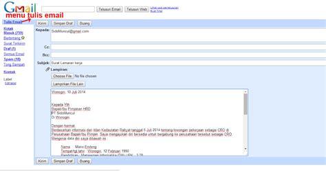 contoh daftar riwayat hidup kirim lewat email rumamu di
