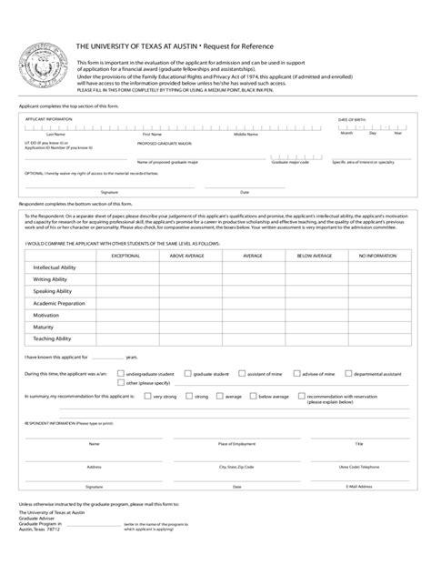 employment application form texas pdf the university of texas application form 1 free