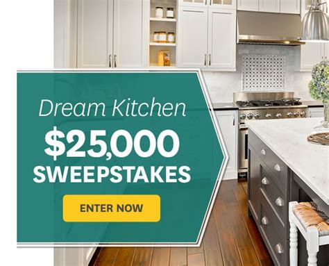 homes  gardens  dream kitchen sweepstakes
