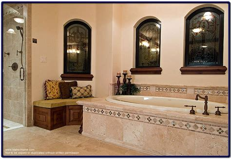 Elegant Mediterranean Style Bathroom  With Italian Tile