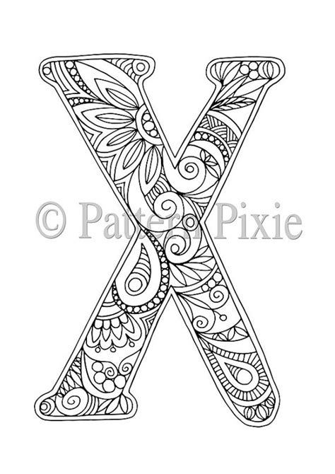 X For Coloring by Colouring Page Alphabet Letter Quot X Quot Coloring