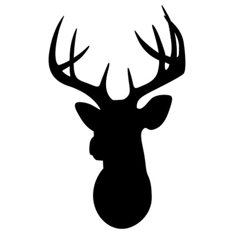 deer head silhouette wall quotes wall art decal