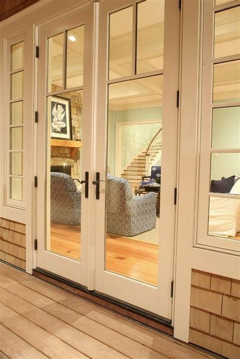narrow interior french doors fire doors etched pantry