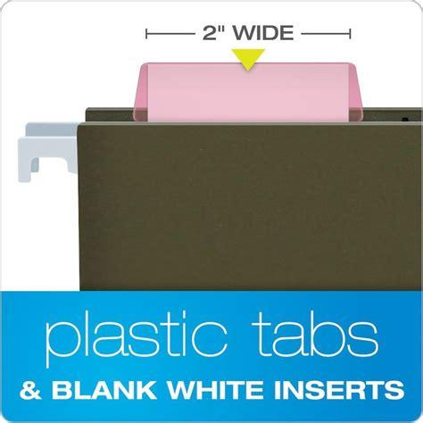 pendaflex hanging folder tabs clear pink tabs inserts