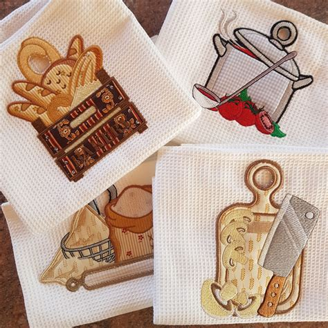 kitchen towel machine embroidery designs kitchen towel toppers embroidery delight your source 8670
