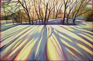Winter Shadows Painting by Sheila Diemert