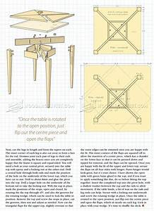 Folding Card Table Plans • WoodArchivist