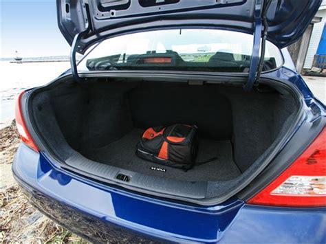 nissan tiida trunk space living with the 2010 nissan versa 1 6 base sedan