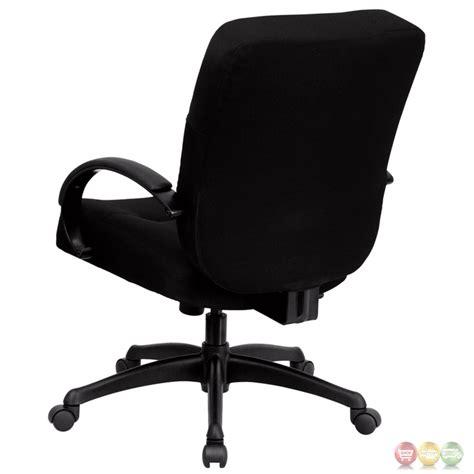 hercules big black fabric office chair w wide seat