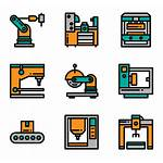 Machinery Factory Icon Icons Packs Robot Vector