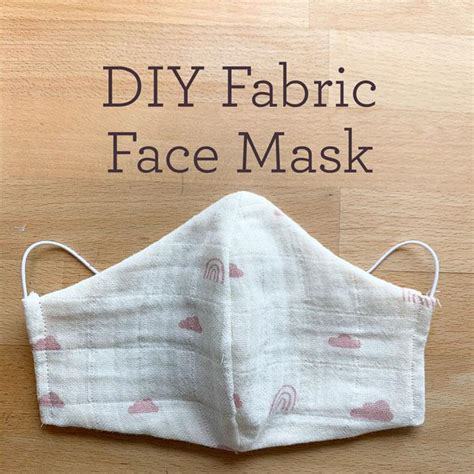 diy fabric face mask  pattern  adults