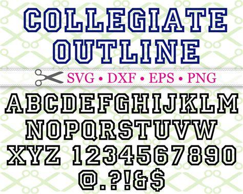 Collegiate Svg Font-cricut & Silhouette Files Svg Dxf Eps