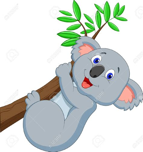Clipart Koala by Climbing Tree Clipart Koala Pencil And In Color Climbing
