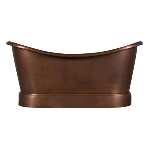 Smooth Double Slipper Copper Bathtub   Coppersmith® Creations