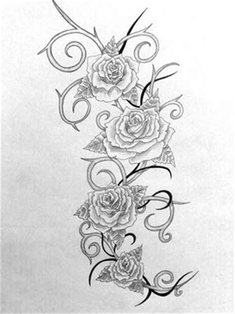 roses  thorns tattoo  tribal  organic