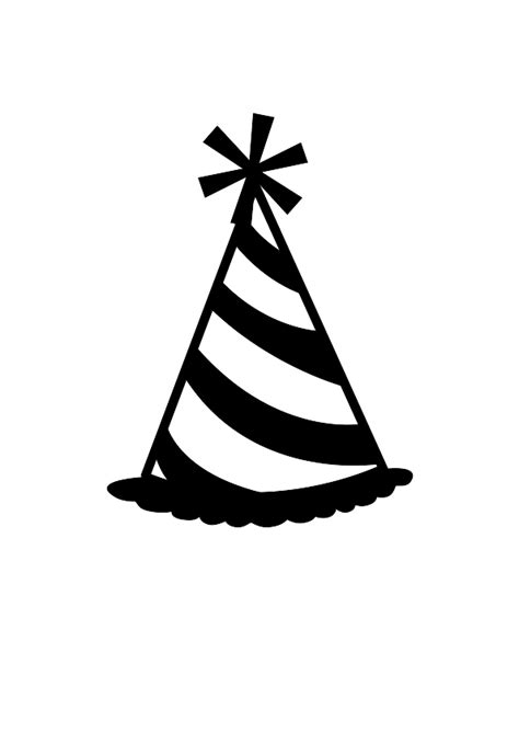 birthday hat clipart black and white hat image cliparts co