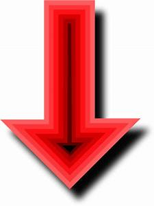 Red Arrow Down - Cliparts.co