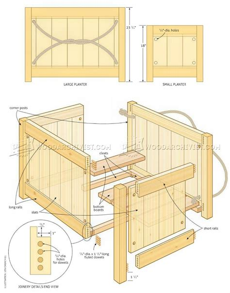 Planter Box Plans With Wood