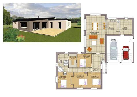 plans maisons plain pied 3 chambres plan maison plain pied 3 chambres 110m2