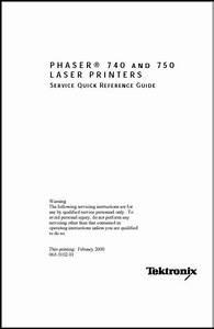 Xerox  Tektronix Phaser 740  750 Color Printer Service Guide