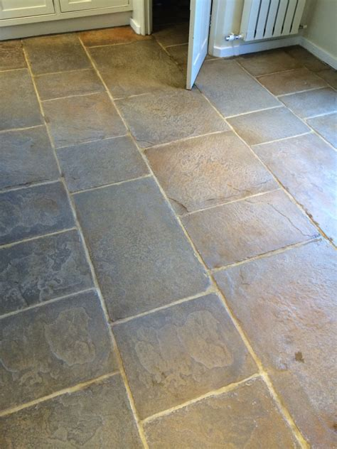 Floor Flagstone Tiles by Revitalising A Slate And Flag Floor In Cookham