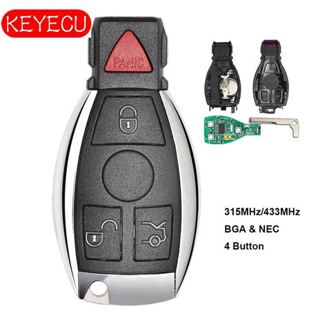 Mercedes used smart keys are security code 44 encrypted. Keyecu Smart Key 4 Buttons 315MHz 433MHz for Mercedes Benz Auto Remote Key Support NEC And BGA ...