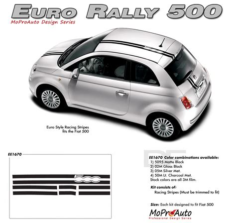 Fiat 500 Decals by 2011 2017 Rally Fiat 500 Abarth Stripes Decals