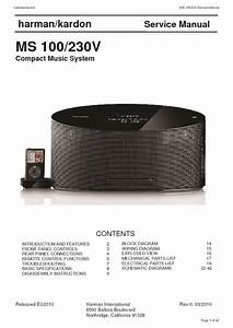 Harman Kardon Ms 100  Serv Man2  Service Manual  U2014 View