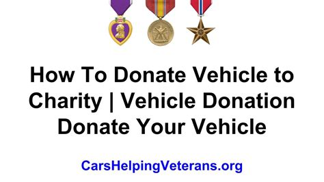 How To Donate Vehicle To Charity Vehicle Donation Donate