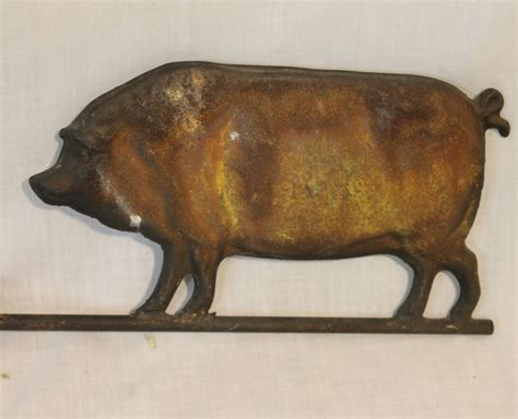bargain johns antiques antique pig weathervane