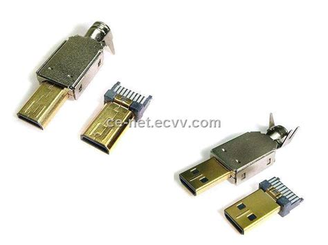 D-type Male Hdmi Connector With High-speed Networking And