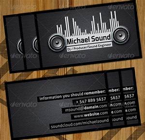 32 dj business card templates free download for Dj business cards templates free