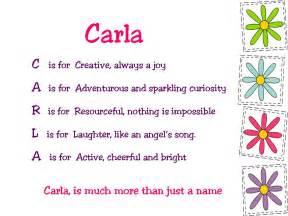 acrostic name poems for carla