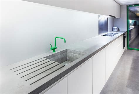 kitchen island worktops polished concrete worktops haus concrete surfaces