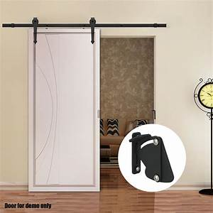 2m 4m sliding barn door hardware track set home office With barn door hardware and door combo