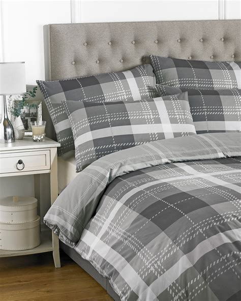 Check Duvet Cover by Checked Striped Quilt Duvet Cover Pillowcase Bedding