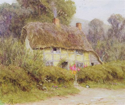 a country cottage painting by helen allingham