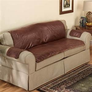 sherpa sofa protector by oakridge comforts couch cover With leather sectional sofa protector