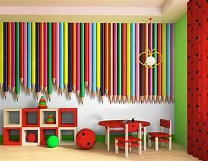 Papier Peint Sticker : papier peint intiss ou sticker crayons de couleur ~ Premium-room.com Idées de Décoration