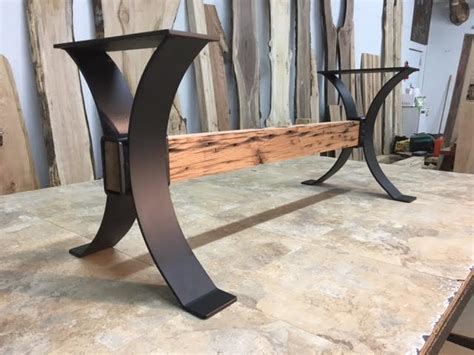 steel bench base ohiowoodlands metal table legs bench