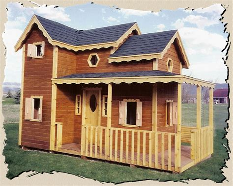 kids playhouse cabin plans  woodworking