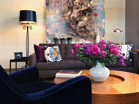 blue velvet sofa living room photo page hgtv