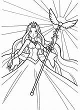 Pitch Mermaid Coloring Pichi Melody Cartoons Kb sketch template
