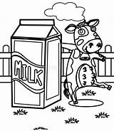 Milk Coloring Cow Dairy Drawn sketch template