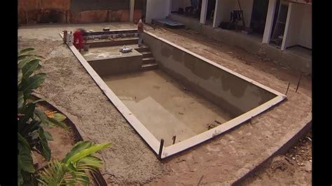 construcao de piscina build   swimming pool time