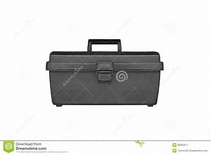 Black Plastic Tool Box Isolate Stock Image - Image of open ...