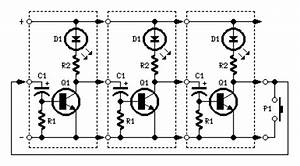 LEDs or Lamps Sequencer circuit diagram and instructions