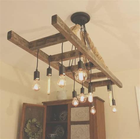 Vintage Farmhouse Ladder Chandelier ? iD Lights