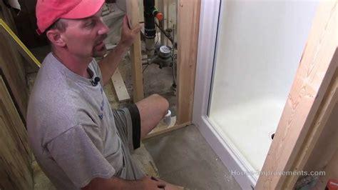 install  fiberglass shower youtube