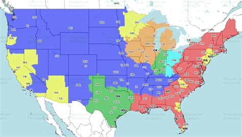 nfl week  tv schedule  broadcast maps